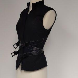 Anne Fontaine Aleke black quilted vest-sz 4